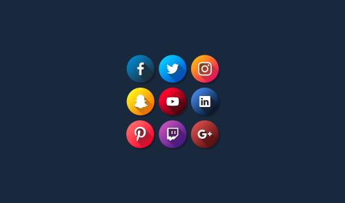 flat-social-media-icons-free-2018