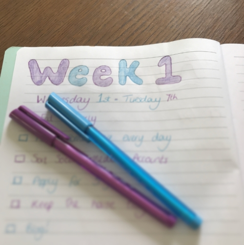 Week 1 Goals