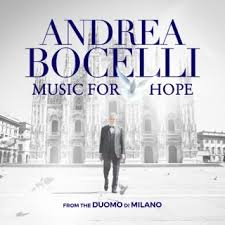 The single artwork for Music for Hope by Andrea Bocelli.